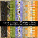 Pumpkin Soup Patterned Paper Pack-$2.99 (Fayette Designs)