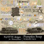 Pumpkin Soup WordArt Pack-$2.99 (Fayette Designs)