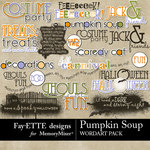 Pumpkin Soup WordArt Pack-$2.99 (Fayette Designs)