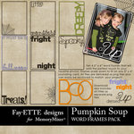 Pumpkin Soup Word Frames Pack-$2.99 (Fayette Designs)