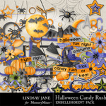 Halloween Candy Rush Embellishment Pack-$3.49 (Lindsay Jane)