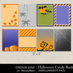Halloween Candy Rush Journal Cards-$1.99 (Lindsay Jane)