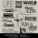 Road Trip WAW Embellishment Pack-$2.99 (Word Art World)