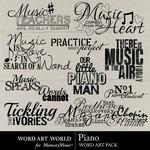Piano word art small