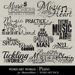 Piano WordArt-$2.49 (Word Art World)
