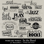 In The Band WordArt-$2.49 (Word Art World)