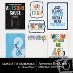Awesome Boy Journal Cards-$2.46 (Albums to Remember)