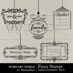 Fancy Stamps-$2.45 (Word Art World)