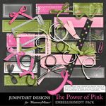 The Power of Pink Add On Embellishment Pack 2-$2.40 (Jumpstart Designs)