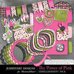 The Power of Pink Spare Parts Embellishments-$3.99 (Jumpstart Designs)