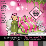 The Power of Pink Battle Zone Embellishments-$2.49 (Jumpstart Designs)