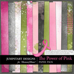 The Power of Pink Add On Paper Pack-$3.49 (Jumpstart Designs)