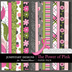 The Power of Pink Paper Pack-$2.10 (Jumpstart Designs)