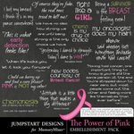 The Power of Pink WordArt Pack-$2.99 (Jumpstart Designs)
