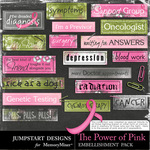 The Power of Pink Word Strips Pack-$2.49 (Jumpstart Designs)