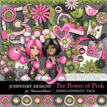 The Power of Pink Embellishment Pack-$3.49 (Jumpstart Designs)