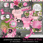 The Power of Pink Add On Embellishment Pack 1-$3.49 (Jumpstart Designs)