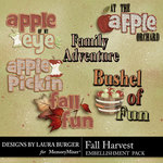 Fall Harvest Word Art-$1.25 (Laura Burger)