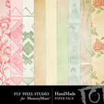 Hand Made Paper Pack-$3.49 (Fly Pixel Studio)