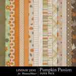 Pumpkin Passion Paper Pack-$1.75 (Lindsay Jane)