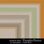 Pumpkin Passion Embossed Paper Pack-$1.00 (Lindsay Jane)