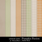 Pumpkin Passion Extra Paper Pack-$1.99 (Lindsay Jane)