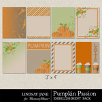 Pumpkin Passion Journal Cards-$1.99 (Lindsay Jane)