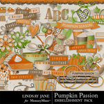 Pumpkin Passion Embellishment Pack-$3.49 (Lindsay Jane)