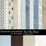 For the Boys Paper Pack-$1.40 (Laura Burger)