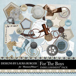 For the Boys Embellishment Pack-$1.40 (Laura Burger)