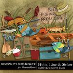 Hook Line Sinker Embellishment Pack-$3.49 (Laura Burger)