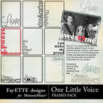 One Little Voice Word Frames Pack-$2.49 (Fayette Designs)