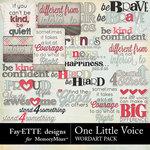One Little Voice WordArt Pack-$2.99 (Fayette Designs)