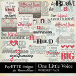 One Little Voice WordArt Pack-$2.49 (Fayette Designs)
