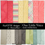 One Little Voice Basics Paper Pack-$3.99 (Fayette Designs)