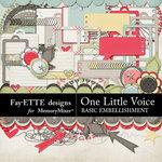 One Little Voice Basics Embellishment Pack-$3.99 (Fayette Designs)