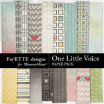 One Little Voice Paper Pack-$3.99 (Fayette Designs)