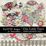 One Little Voice Embellishment Pack-$3.40 (Fayette Designs)