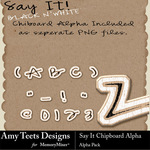 Chipboard Alpha Pack-$0.99 (Amy Teets)