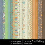Leaves Are Falling Paper Pack-$3.49 (Lindsay Jane)