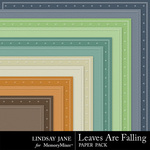 Leaves Are Falling Embossed Paper Pack-$1.99 (Lindsay Jane)
