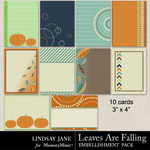 Leaves Are Falling Journal Cards-$1.99 (Lindsay Jane)