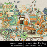 Leaves Are Falling Embellishment Pack-$3.49 (Lindsay Jane)