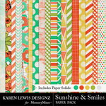 Sunshine and Smiles Paper Pack-$3.99 (Karen Lewis)