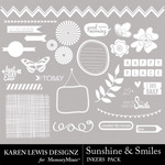 Sunshine and Smiles Inkers-$1.99 (Karen Lewis)