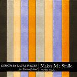 Makes Me Smile Solid Paper Pack-$1.40 (Laura Burger)