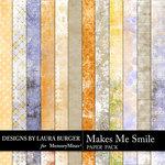 Makes Me Smile Shabby Paper Pack-$1.40 (Laura Burger)