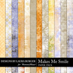 Makes Me Smile Shabby Paper Pack-$3.49 (Laura Burger)