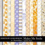 Makes Me Smile Pattern Paper Pack-$1.40 (Laura Burger)