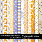 Makes Me Smile Pattern Paper Pack-$3.49 (Laura Burger)